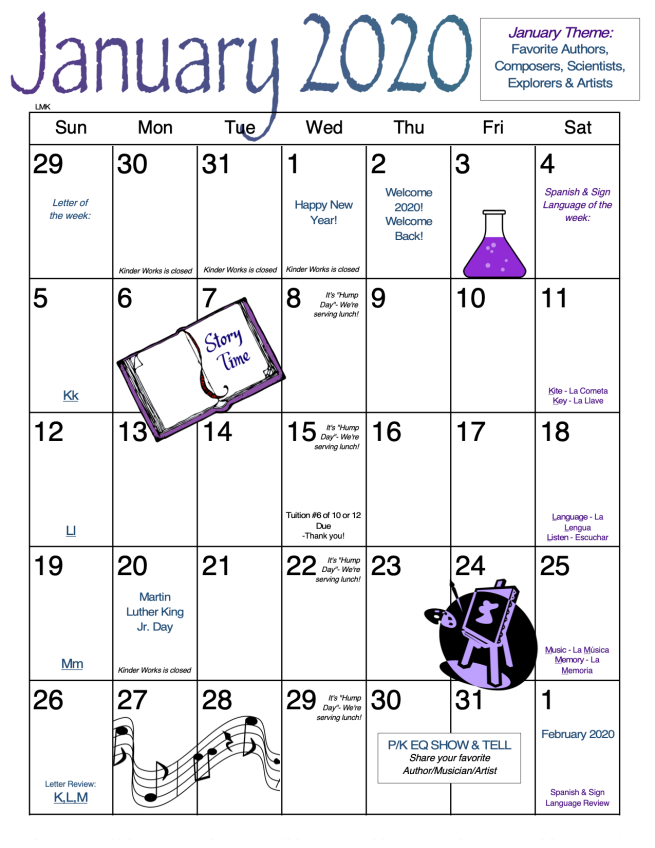 September MTG Calendar